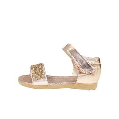 8118GD Girls Gold Sparking Diamante Embellished Sandals (2 to 4 Years)