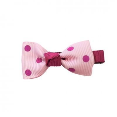 Pretty Girls Polka-dot Bow Hairclip $2.50 each CLIPS1