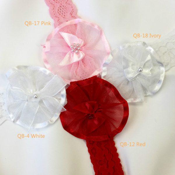 UQBS Baby Girl Cute Headband Bow and Bead Detailed