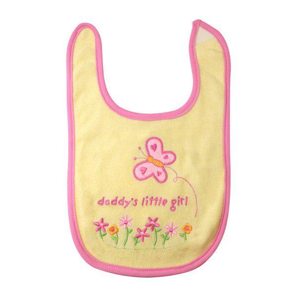 "Baby Bibs ""Daddy's little girl"" in yellow QBE-02YFREE"