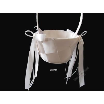 Flower Girls Basket Creme/White/Pink QL-01