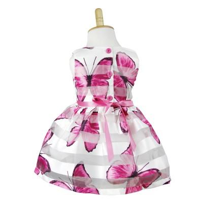 QSDS642 Pretty Girl's Butterfly Pattern Dress