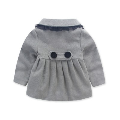 QY615GY Girls Classic Skater Coat Grey Color (7 to 10 Years)