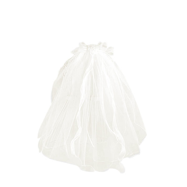QAH-07 Beautiful Wedding Style Veil mid-length in White or Ivory