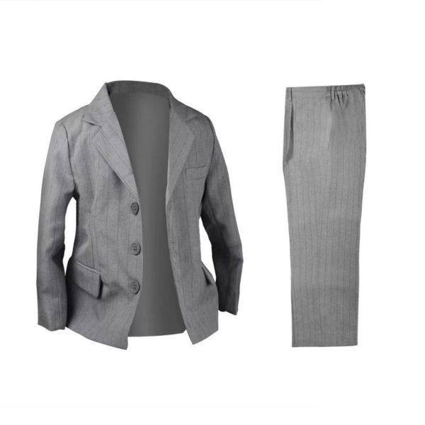 QF417LGY Baby/Boys Light Grey Jacket Pants 2pcs Set
