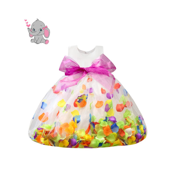 RDS1151RB Baby Girl's Rainbow Petal Dress (3 Months to 2 Years)